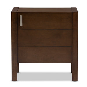 Baxton Studio Mandel Modern and Contemporary Brown Wood Nightstand Baxton Studio-nightstands-Minimal And Modern - 3
