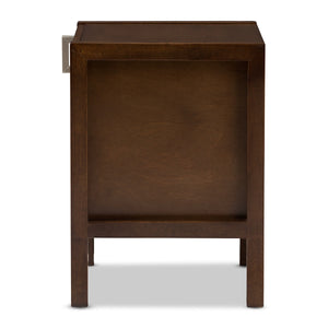 Baxton Studio Mandel Modern and Contemporary Brown Wood Nightstand Baxton Studio-nightstands-Minimal And Modern - 4