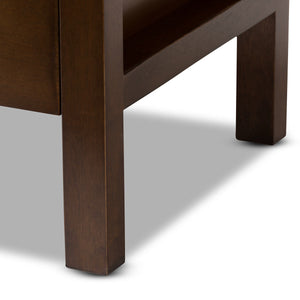 Baxton Studio Mandel Modern and Contemporary Brown Wood Nightstand Baxton Studio-nightstands-Minimal And Modern - 6