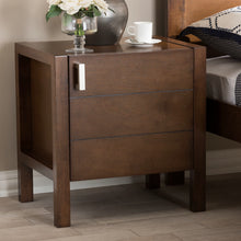Baxton Studio Mandel Modern and Contemporary Brown Wood Nightstand Baxton Studio-nightstands-Minimal And Modern - 7
