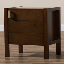Baxton Studio Mandel Modern and Contemporary Brown Wood Nightstand Baxton Studio-nightstands-Minimal And Modern - 8