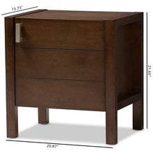 Baxton Studio Mandel Modern and Contemporary Brown Wood Nightstand Baxton Studio-nightstands-Minimal And Modern - 9