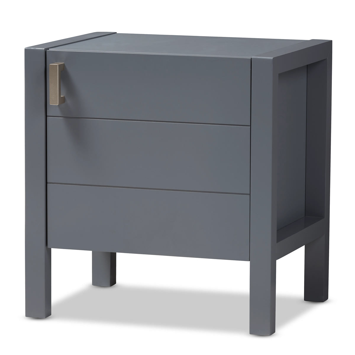 Baxton Studio Mandel Modern and Contemporary Grey Wood Nightstand Baxton Studio-nightstands-Minimal And Modern - 1
