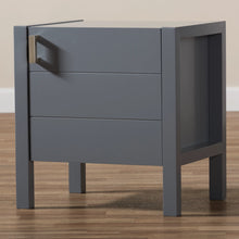 Baxton Studio Mandel Modern and Contemporary Grey Wood Nightstand Baxton Studio-nightstands-Minimal And Modern - 8