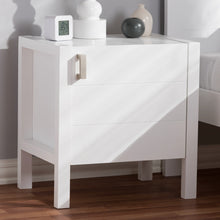 Baxton Studio Mandel Modern and Contemporary White Wood Nightstand Baxton Studio-nightstands-Minimal And Modern - 7