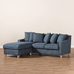 Baxton Studio Winslow Modern and Contemporary Blue Fabric Upholstered 2-Piece Left Facing Sectional Baxton Studio-sofas-Minimal And Modern - 5