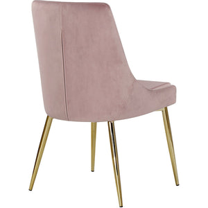 Meridian Furniture Karina Pink Velvet Dining Chair-Minimal & Modern