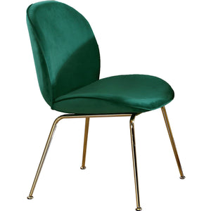 Meridian Furniture Paris Green Velvet Dining Chair-Minimal & Modern