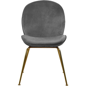 Meridian Furniture Paris Grey Velvet Dining Chair-Minimal & Modern
