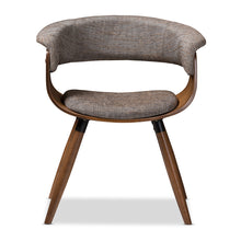 Baxton Studio Bryce Mid-Century Modern Grey Fabric Upholstered Walnut Finished Bent Wood Dining Chair Baxton Studio-dining chair-Minimal And Modern - 2