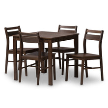 Baxton Studio Lovy Modern and Contemporary Walnut-Finished 5-Piece Dining Set Baxton Studio-0-Minimal And Modern - 1