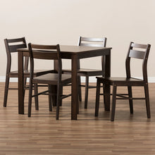 Baxton Studio Lovy Modern and Contemporary Walnut-Finished 5-Piece Dining Set Baxton Studio-0-Minimal And Modern - 5