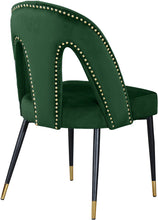 Meridian Furniture Akoya Green Velvet Dining Chair - Set of 2
