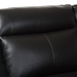 Baxton Studio Rabbie Modern and Contemporary Black Leather Right Facing Chaise 2-Piece Sectional Sofa Baxton Studio-sofas-Minimal And Modern - 2