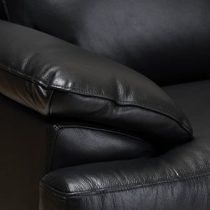Baxton Studio Rabbie Modern and Contemporary Black Leather Right Facing Chaise 2-Piece Sectional Sofa Baxton Studio-sofas-Minimal And Modern - 3