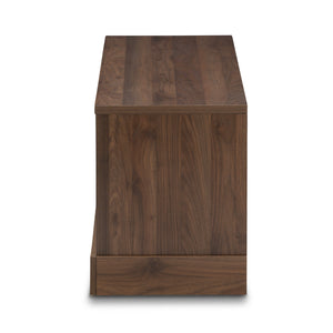 Baxton Studio Burnwood Modern and Contemporary Walnut Brown Finished Wood TV Stand Baxton Studio-TV Stands-Minimal And Modern - 4