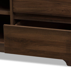 Baxton Studio Burnwood Modern and Contemporary Walnut Brown Finished Wood TV Stand Baxton Studio-TV Stands-Minimal And Modern - 6