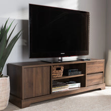 Baxton Studio Burnwood Modern and Contemporary Walnut Brown Finished Wood TV Stand Baxton Studio-TV Stands-Minimal And Modern - 7