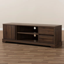 Baxton Studio Burnwood Modern and Contemporary Walnut Brown Finished Wood TV Stand Baxton Studio-TV Stands-Minimal And Modern - 8
