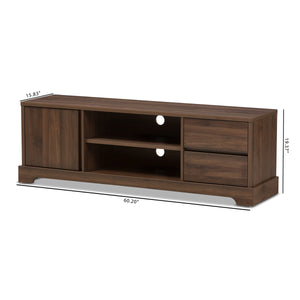 Baxton Studio Burnwood Modern and Contemporary Walnut Brown Finished Wood TV Stand Baxton Studio-TV Stands-Minimal And Modern - 9