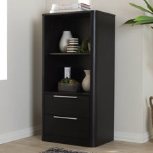 Baxton Studio Carlingford Modern and Contemporary Espresso Brown Finished Wood 2-Drawer Bookcase Baxton Studio-0-Minimal And Modern - 9