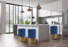 Meridian Furniture Liv Navy Velvet Stool