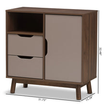 Baxton Studio Britta Mid-Century Modern Walnut Brown and Grey Two-Tone Finished Wood Sideboard Baxton Studio-0-Minimal And Modern - 2