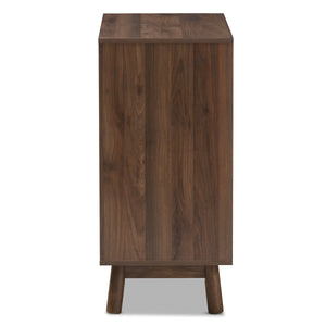 Baxton Studio Britta Mid-Century Modern Walnut Brown and Grey Two-Tone Finished Wood Sideboard Baxton Studio-0-Minimal And Modern - 5