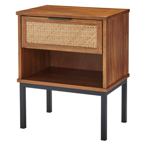 Caine Rattan Night Stand by New Pacific Direct - 8000063