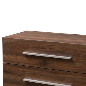 Baxton Studio Auburn Mid-Century Modern Walnut Brown Finished Wood 4-Drawer Chest Baxton Studio-Dresser-Minimal And Modern - 6