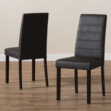 Baxton Studio Lorelle Modern and Contemporary Brown Faux Leather Upholstered Dining Chair (Set of 2) Baxton Studio-dining chair-Minimal And Modern - 7