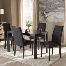 Baxton Studio Lorelle Modern and Contemporary Brown Faux Leather Upholstered 5-Piece Dining Set Baxton Studio-0-Minimal And Modern - 4
