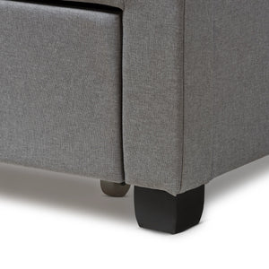 Baxton Studio Aubrianne Modern and Contemporary Grey Fabric Upholstered Queen Storage Bed Baxton Studio-beds-Minimal And Modern - 12