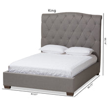 Baxton Studio Victoire Modern and Contemporary Light Grey Fabric Upholstered King Size Platform Bed Baxton Studio-beds-Minimal And Modern - 9
