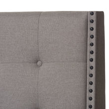 Baxton Studio Georgette Modern and Contemporary Light Grey Fabric Upholstered Queen Size Bed Baxton Studio-0-Minimal And Modern - 4