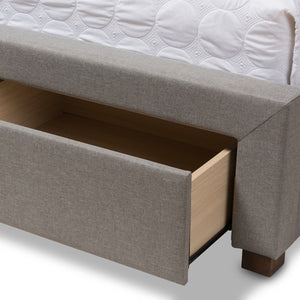 Baxton Studio Aurelie Modern and Contemporary Light Grey Fabric Upholstered King Size Storage Bed Baxton Studio-beds-Minimal And Modern - 13