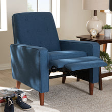 Baxton Studio Mathias Mid-century Modern Blue Fabric Upholstered Lounge Chair Baxton Studio-chairs-Minimal And Modern - 2