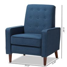 Baxton Studio Mathias Mid-century Modern Blue Fabric Upholstered Lounge Chair Baxton Studio-chairs-Minimal And Modern - 4