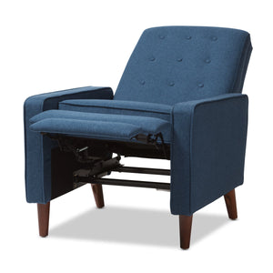 Baxton Studio Mathias Mid-century Modern Blue Fabric Upholstered Lounge Chair Baxton Studio-chairs-Minimal And Modern - 6