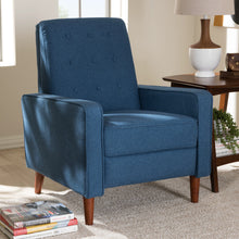 Baxton Studio Mathias Mid-century Modern Blue Fabric Upholstered Lounge Chair Baxton Studio-chairs-Minimal And Modern - 12