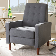 Baxton Studio Mathias Mid-century Modern Grey Fabric Upholstered Lounge Chair Baxton Studio-chairs-Minimal And Modern - 12