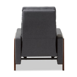 Baxton Studio Halstein Mid-century Modern Grey Fabric Upholstered Lounge Chair Baxton Studio-chairs-Minimal And Modern - 9