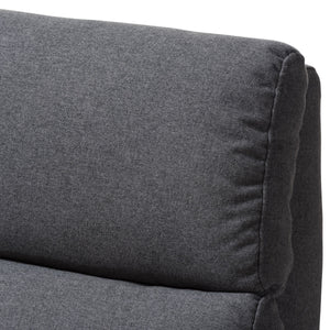 Baxton Studio Halstein Mid-century Modern Grey Fabric Upholstered Lounge Chair Baxton Studio-chairs-Minimal And Modern - 10
