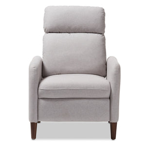 Baxton Studio Casanova Mid-century Modern Light Grey Fabric Upholstered Lounge Chair Baxton Studio-chairs-Minimal And Modern - 7