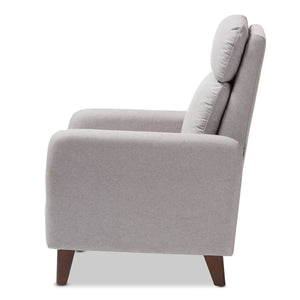 Baxton Studio Casanova Mid-century Modern Light Grey Fabric Upholstered Lounge Chair Baxton Studio-chairs-Minimal And Modern - 8