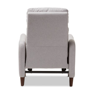 Baxton Studio Casanova Mid-century Modern Light Grey Fabric Upholstered Lounge Chair Baxton Studio-chairs-Minimal And Modern - 9