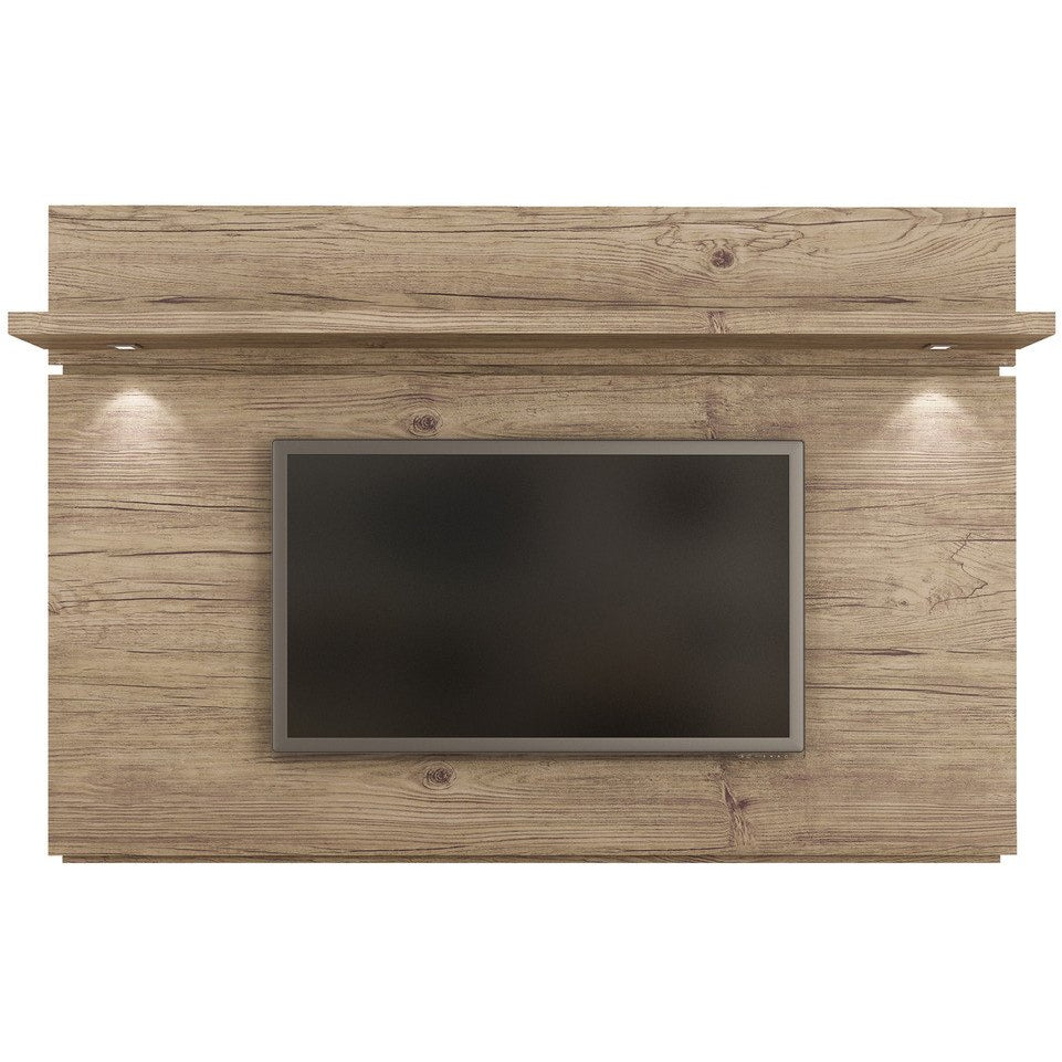 Manhattan Comfort Park 1.8 TV Panel with LED Lights Nature/Pro Touch, TV Stands - Manhattan Comfort, Minimal & Modern - 1