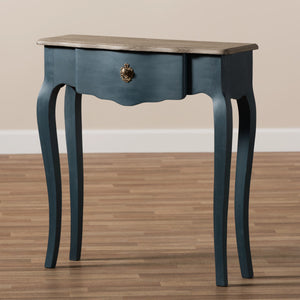 Baxton Studio Mazarine Classic and Provincial Blue Spruce Finished Console Table Baxton Studio-tv Stands-Minimal And Modern - 2