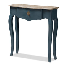 Baxton Studio Mazarine Classic and Provincial Blue Spruce Finished Console Table Baxton Studio-tv Stands-Minimal And Modern - 1