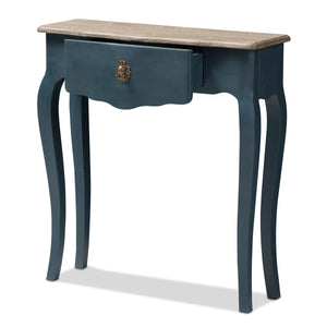 Baxton Studio Mazarine Classic and Provincial Blue Spruce Finished Console Table Baxton Studio-tv Stands-Minimal And Modern - 4